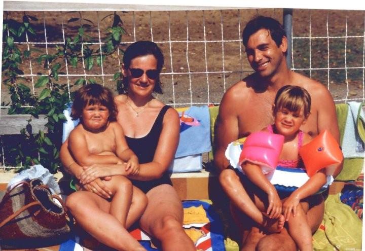 Tony Nicklinson's family in France around 1992 (Photo: Lauren Nicklinson)