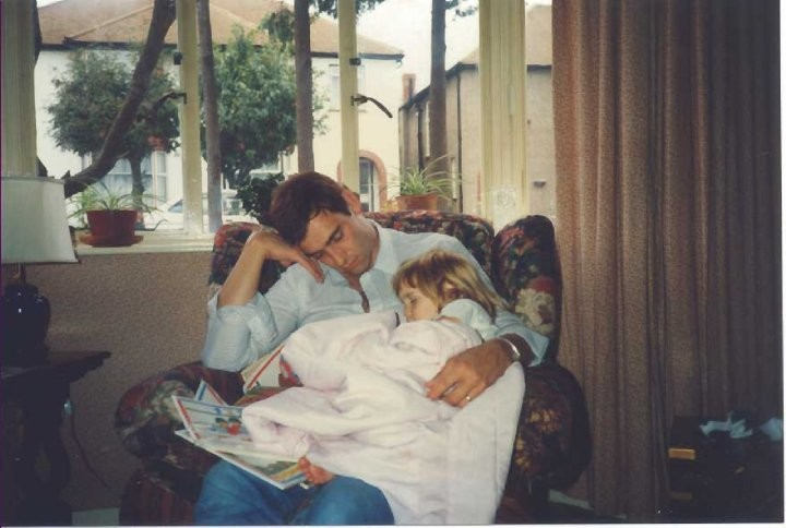 Tony Nicklinson and Lauren Nicklinson in 1989 (Photo: Lauren Nicklinson)
