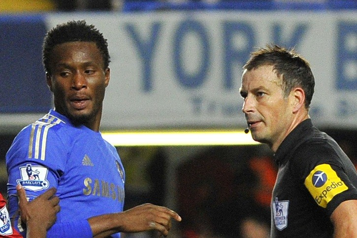 Mikel (l) and Clattenburg