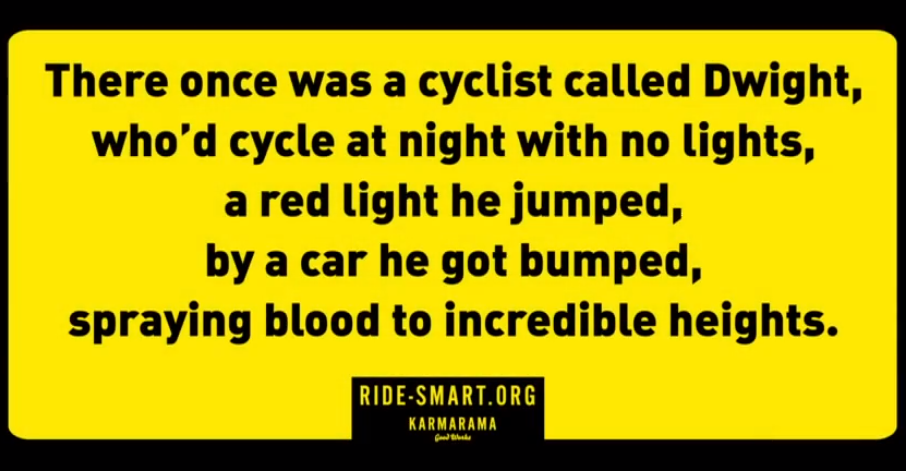 The campaign was meant to highlight the dangers cyclists face on the road (Ridesmart)