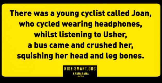 Another one of the limericks used in the campaign (ridesmart)