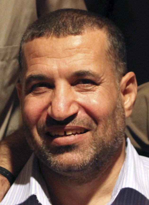 File picture shows Ahmed Al-Jabari, top commander of Hamas armed wing Al-Qassam brigades