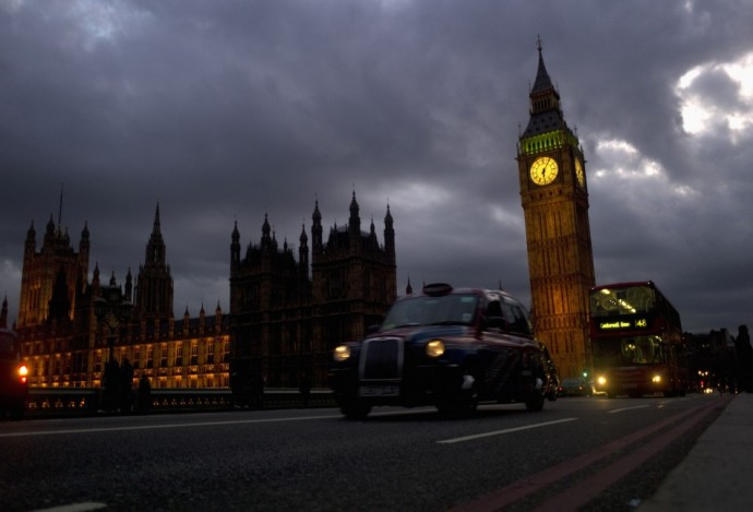 Big Ben on Westminster Bridge in London
