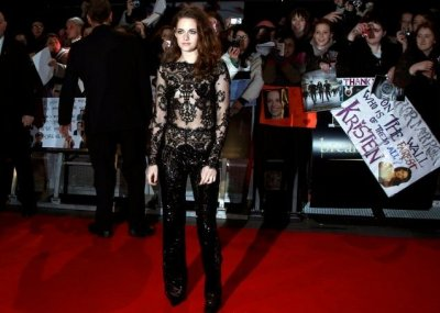 Actress Kristen Stewart arrives for the European premiere of The Twilight Saga Breaking Dawn Part 2 in London