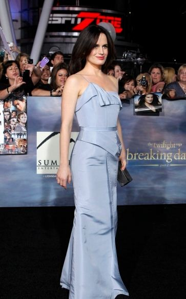 Reaser poses at the premiere of The Twilight Saga Breaking Dawn - Part 2 in Los Angeles