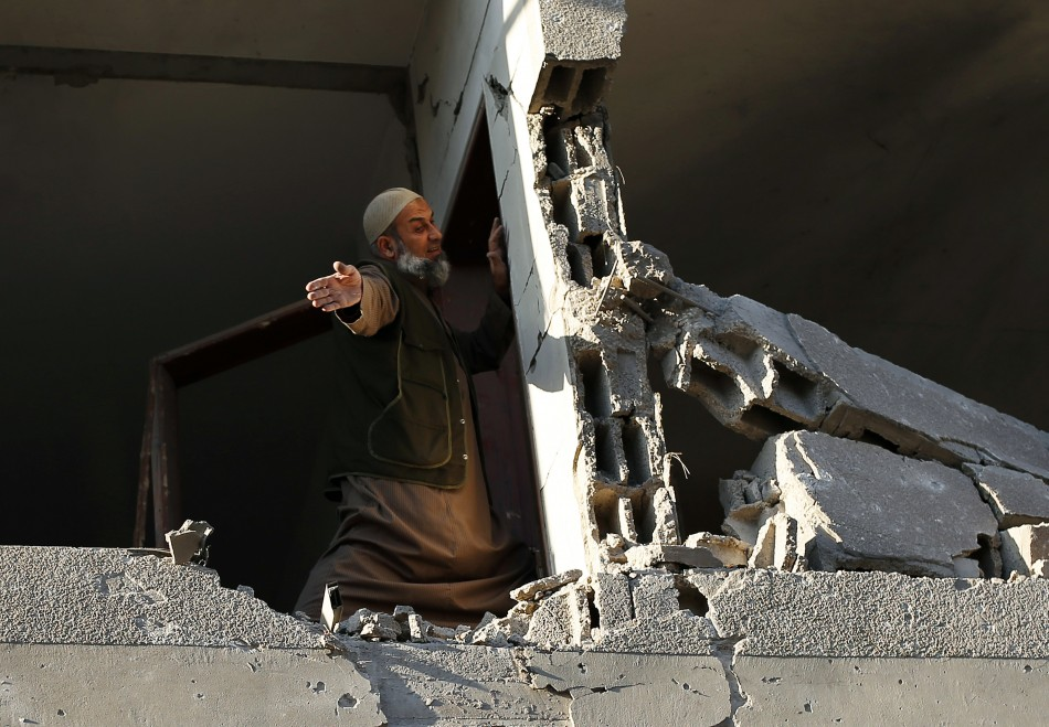 Gaza damaged house