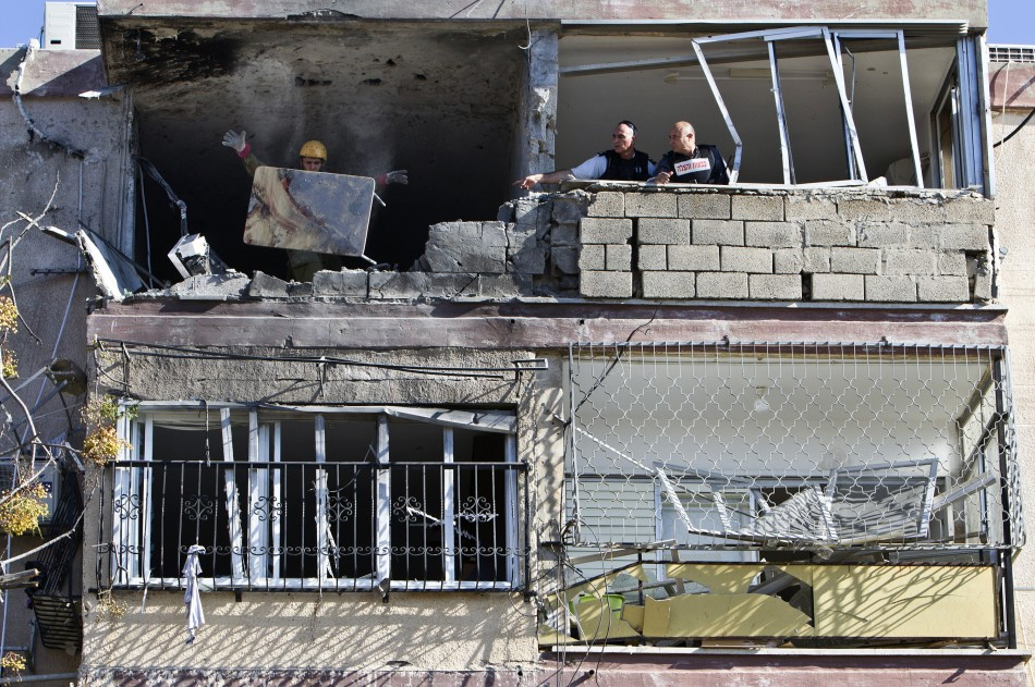 Israeli damaged house