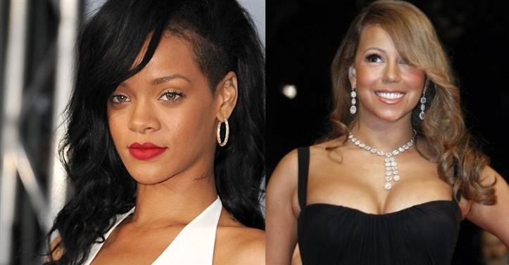 Rihanna and Mariah Carey