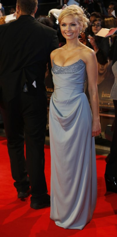 Actress MyAnna Buring arrives for the European premiere of The Twilight Saga Breaking Dawn Part 2 in London