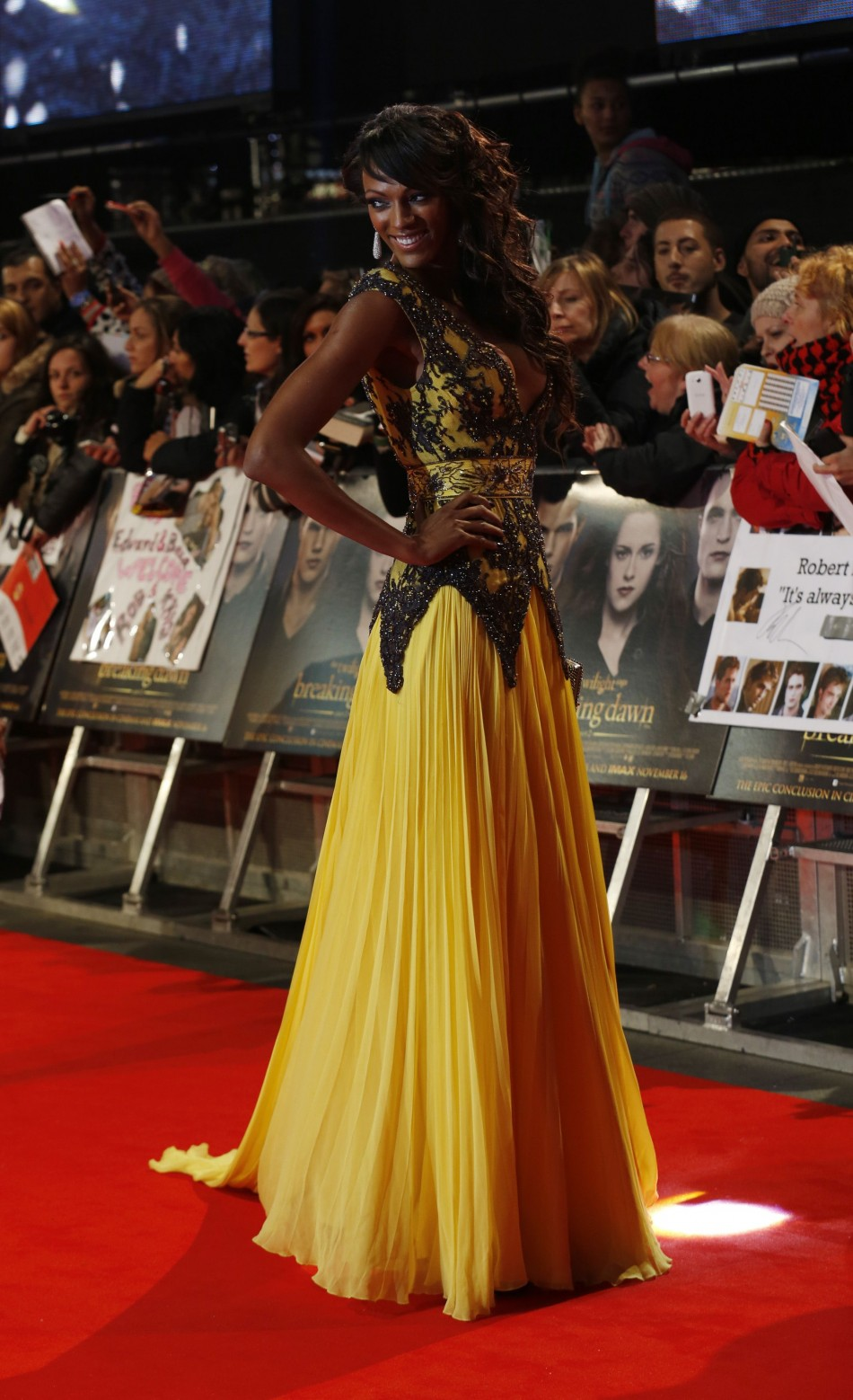 Actress Judi Shekoni arrives for the European premiere of The Twilight Saga Breaking Dawn Part 2 in London