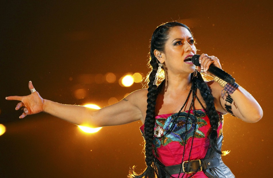 Lila Downs performs Zapata Se Queda during the 13th Latin Grammy Awards in Las Vegas
