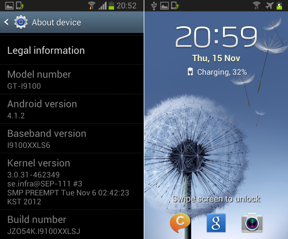 Samsung galaxy s iii mini shipping with android 4. 1. 2 for asia.