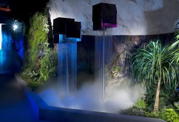 Waterfalls of Pionen beneath Stockholm