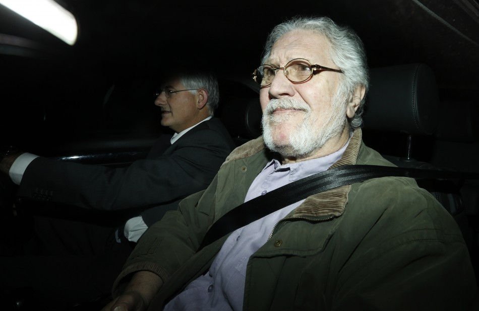 Former BBC presenter dave Lee Travis returning to his house in Mentmore (Reuters)