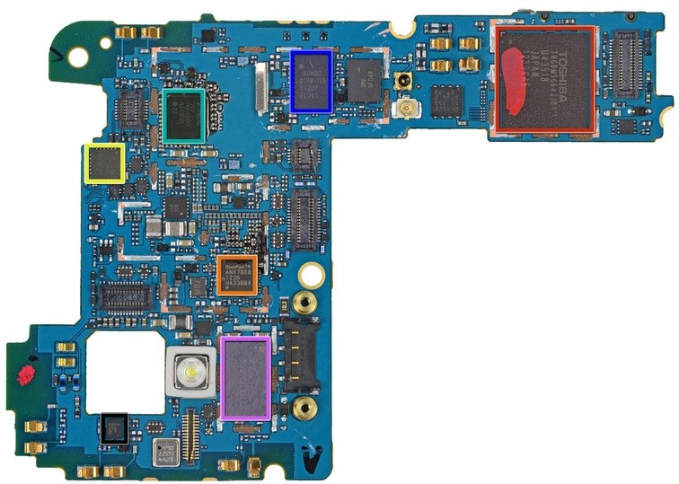Motherboard of Nexus 4
