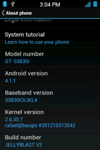 Install Android 4.1.1 Jellyblast Custom ROM Firmware on Samsung Galaxy Ace [Guide]