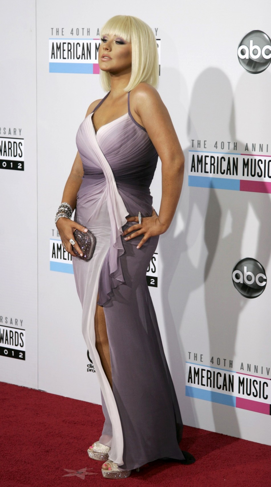 Christina Aguilera arrives at the 40th American Music Awards in Los Angeles