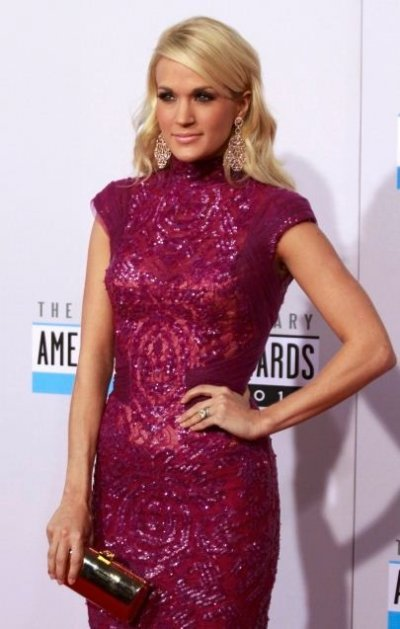 Carrie Underwood arrives at the 40th American Music Awards in Los Angeles