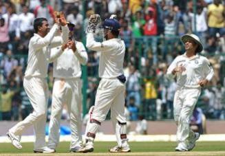 Pragyan Ojha took nine wickets for India