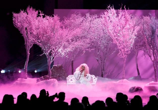 Nicki Minaj performs at the 40th American Music Awards in Los Angeles