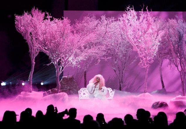 Nicki Minaj performs at the 40th American Music Awards in Los Angeles