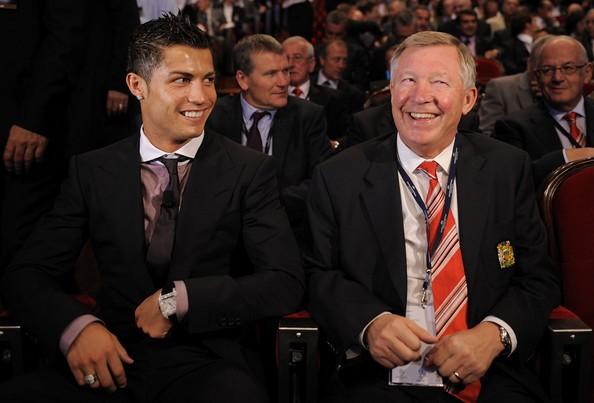 Critiano Ronaldo and Sir Alex Ferguson