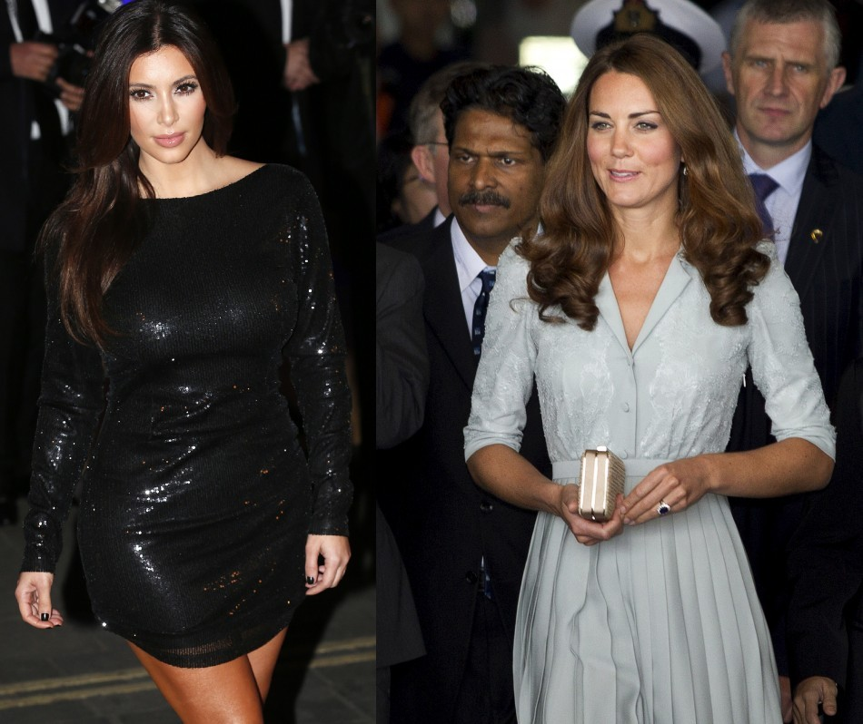 Kim Kardashian and Duchess of Cambridge
