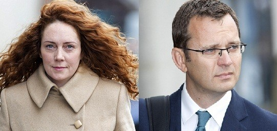 News International's Rebekah Brooks (L) and Andy Coulson