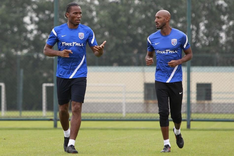 Didier Drogba ans Nicolas Anelka