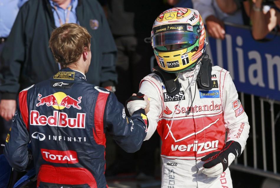 Sebaistan Vettel and Lewis Hamilton