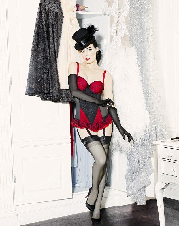 dita von teese debuts vintage lingerie range at debenhams. Black Bedroom Furniture Sets. Home Design Ideas
