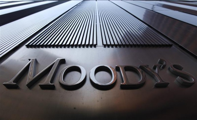Moody's sign in New York Office