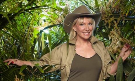 Deep in jungle: Dorries on show