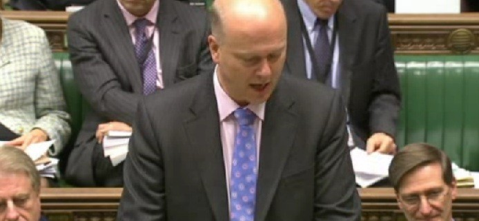 Chris Grayling speaking to the House of Commons