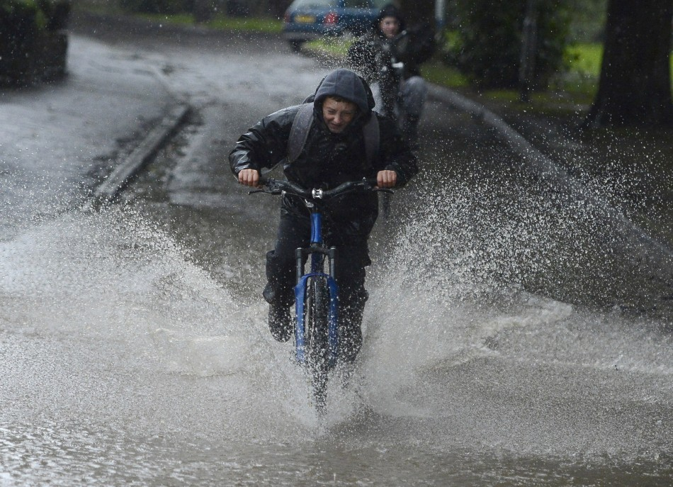 Fun in the rain for youngsters