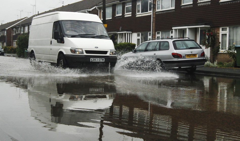 Roads hit by huge downpours