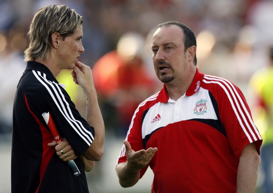 Rafa Benitez and Fernando Torres