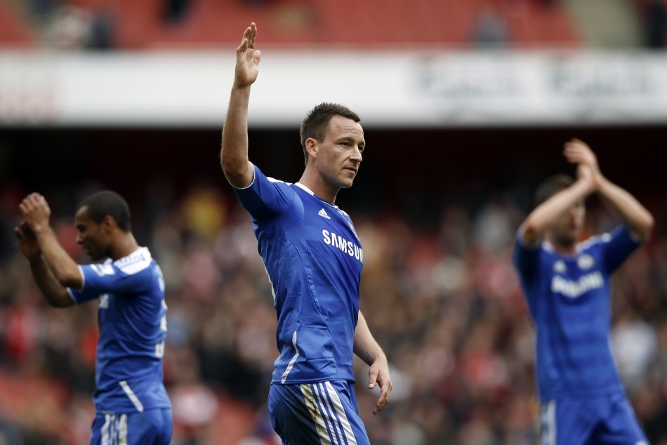 Ashley Cole (L), John Terry and Frank Lampard (R)