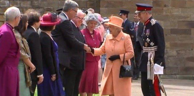 Durham University Vice Chancellor Prof Chris Higgins meets Queen Elizabeth
