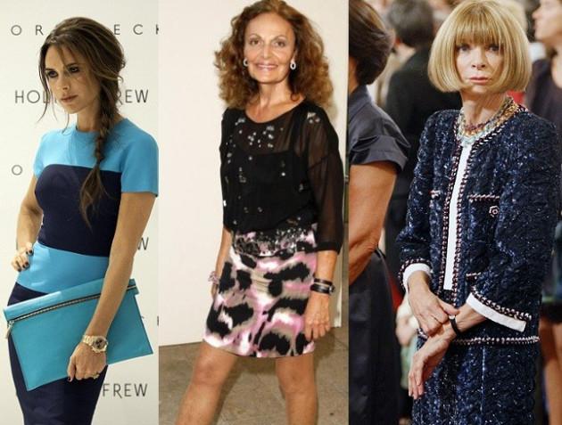 Victoria Beckham, Diane von Furstenberg and Anna Wintour