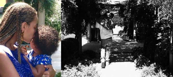 Beyonce Thanksgiving Pictures of Blue Ivy and Jay-Z