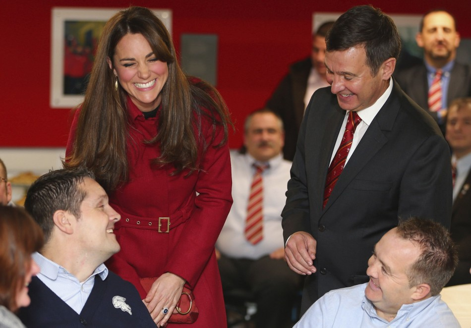 Catherine, Duchess of Cambridge at a reception of the Welsh Rugby Charitable Trust