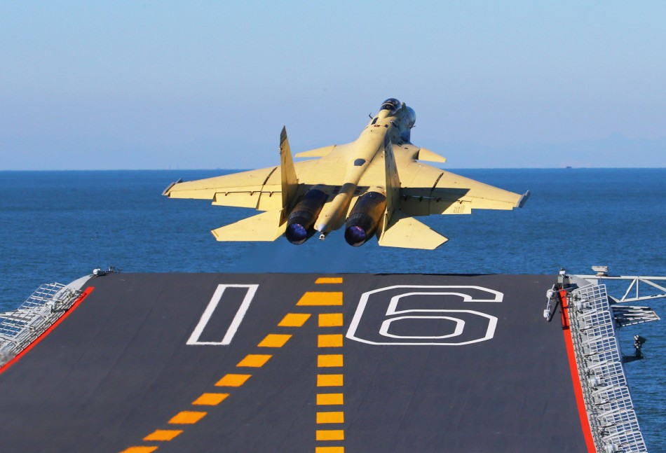 China Lands Fighter Jet on Liaoning Aircraft Carrier