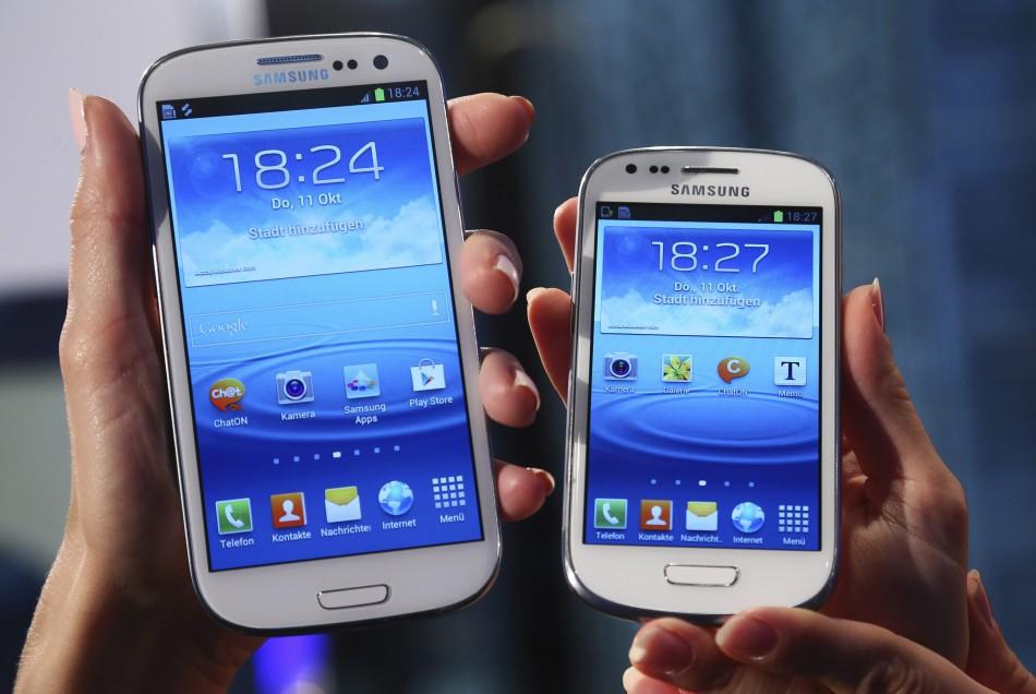 Samsung Galaxy S3 and the Galaxy S3 mini phones