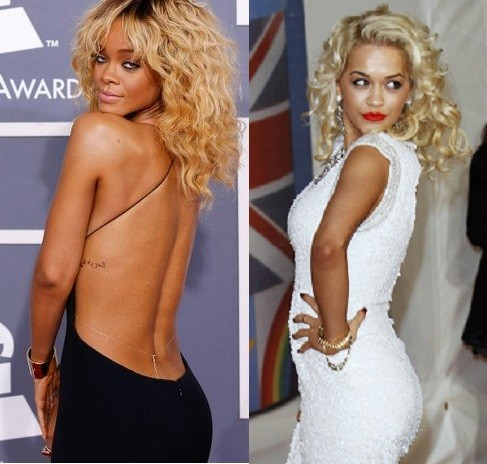 Rihanna and Rita Ora