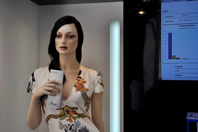 Spying mannequins