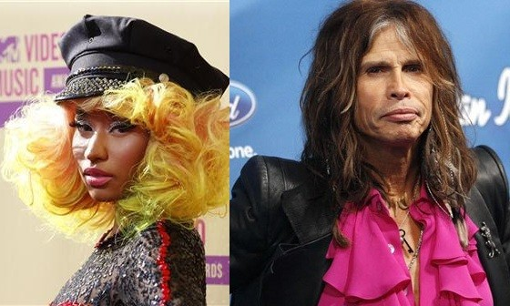 Nicki Minaj and Steven Tyler