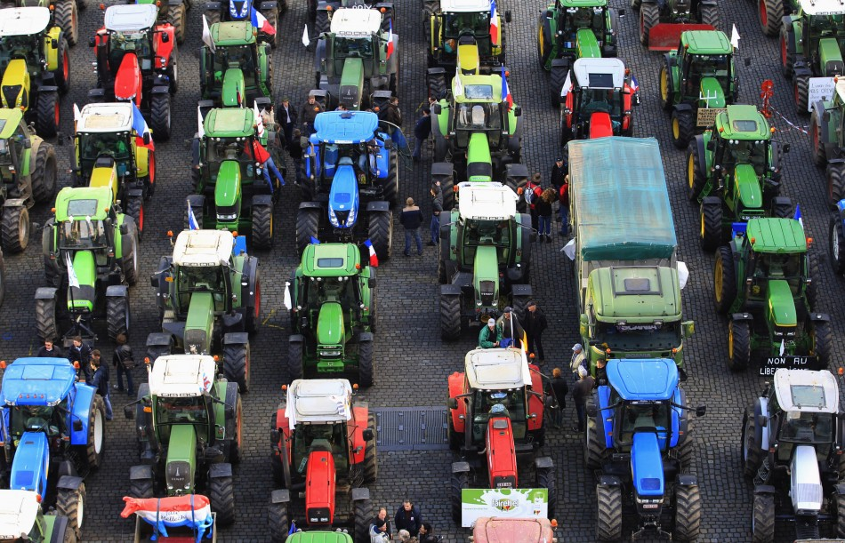 1,000 tractors to Brussels