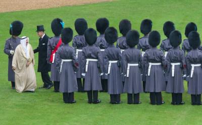 Emir of Kuwait, Sheikh Sabah al-Ahmad al-Sabah, 1st Battalion Irish Guards in Windsor Castle