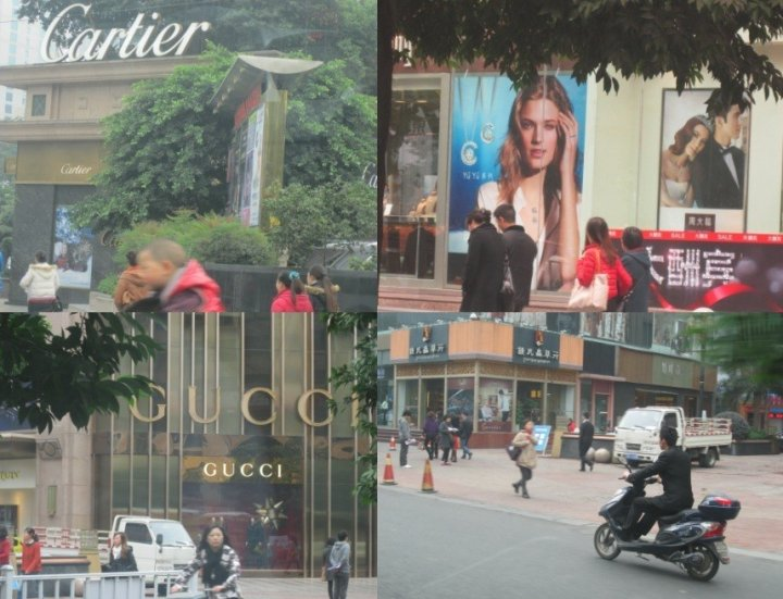 Luxury brands in Chengdu China (Photo: Lianna Brinded)